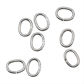 Silver Filled Open Jump Rings Oval 4x3mm 22 Gauge (24)