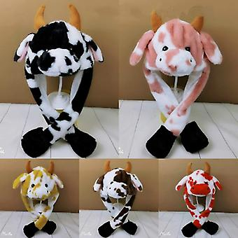 牛帽可爱的兔子帽与轻空气浮动填充耳朵移动帽。
