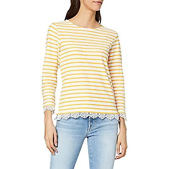 Armor Lux 78141 T-Shirt, Multicolored (Blanc/Mango Etn), Large (One Size: 3) Woman