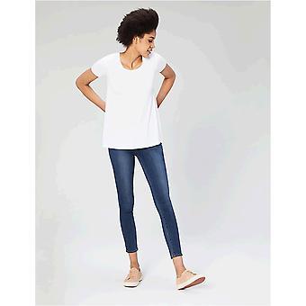 Brand - Daily Ritual Women's Jersey Kortærmet Scoop Neck Swing T-shirt, Hvid, X-Small