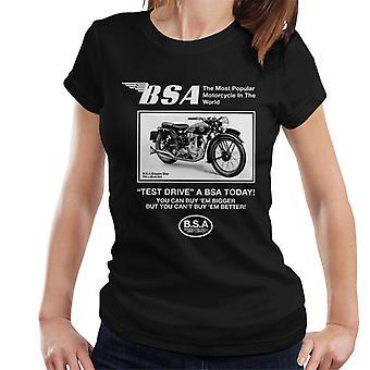 BSA Test Drive A BSA Today Women's T-Shirt