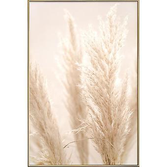 JUNIQE Print -  Pampas Reed 8 - Botanik Poster in Cremeweiß & Weiß