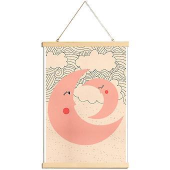 JUNIQE Print - Słodkie sny - Plakat dla dzieci w kolorze różowym