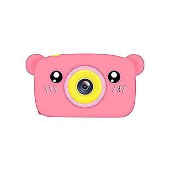 Bear pink portable full-hd 1080p digital mini camera for kids child az957