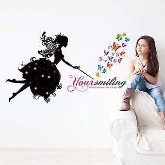 Regenboghorn Butterfly Fairy Wall Decal Sticker JM8358