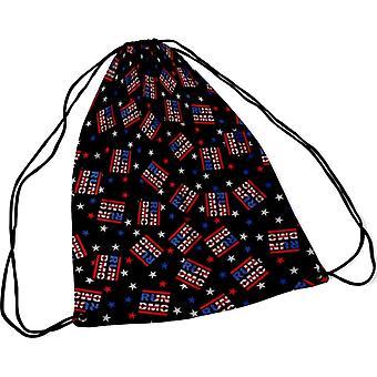 Run Dmc - Run DMC Usa Logo String Bag