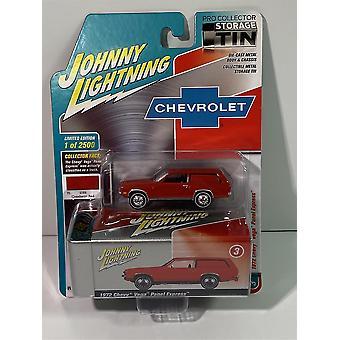 1972 Chevy Vega Panel Express Red Collector Tin 1:64 Johnny Lightning JLCT003A