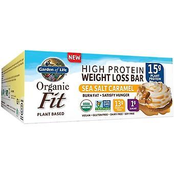Garden of Life Organic Fit Proteiinisuolattu karamellisuklaa, 12 baaria