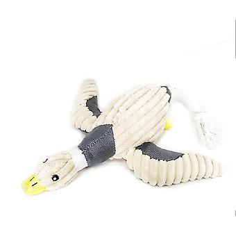 1 X Umplute Dog Chew Jucărie Duck Forma Eco Material Pet Toys