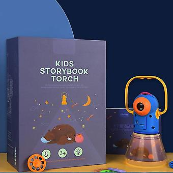Livre de conte pour enfants Projecteur de torche Kaléidoscope Sky Handrail Galaxy Night Light Up Cartoon