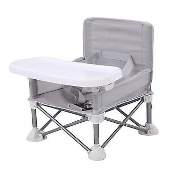 Bærbar foldbar børne spisestol med bakke justerbar aluminiumslegering græsplæne strand aftagelig
