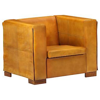 vidaXL armchair light brown real leather