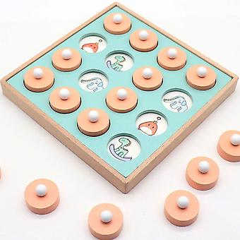 Memory Matchs Chess Game Early Educational Family Party Toy Wooden Chess Game For Children