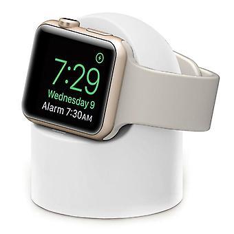 (Weiß) Ständer für Apple Watch Series Ladestation Halter Station Zubehör Halterung