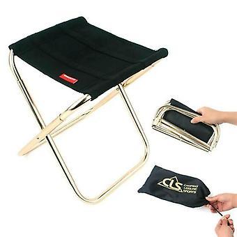 Mini ulkona taitettava tuoli kannettava ranta kalastus jakkara Camping Piknik Istuin