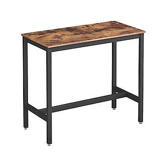"""Tavolo da pranzo """"Hello"""" - 120 x 60 x 90 cm - Marrone rustico"""