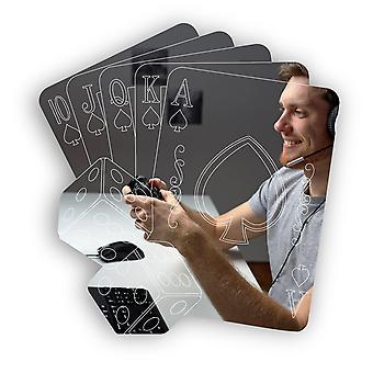 Покерные карты Royal Flush и Dice Акриловое зеркало