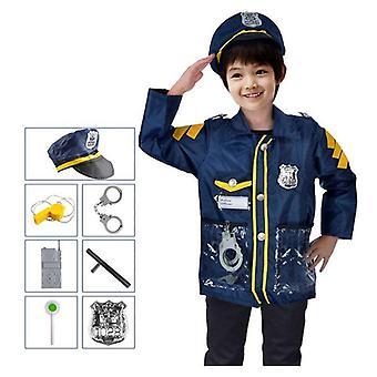 Lapset Cosplay Puku Ura Palomies, Poliisit, Teeskennelkää leikkiä, Halloween
