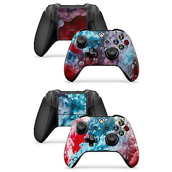 GNG 2 x COLOUR EXPLOSION Xbox One X, Xbox One S, Xbox One  Controller Skins Full Wrap Vinyl Sticker
