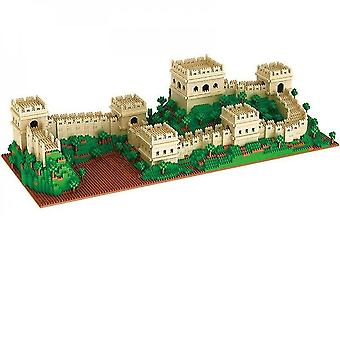 Caraele Old Chinese Building Great Wall Blocks Assembly Model Brain Game Lz8022|stacking Blocks