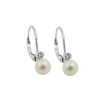 Earring Leverback With Pearl Silver 925 39648 39648 39648