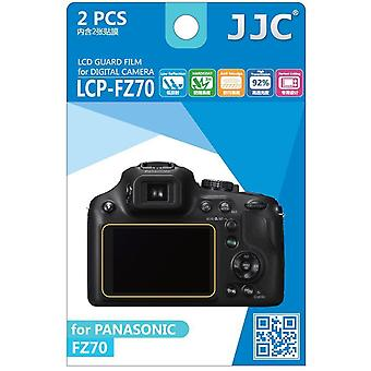 JJC guarda Film Crystal Clear Screen Protector para Panasonic Lumix DMC-FZ70 - sem corte (Pack de 2 filme)