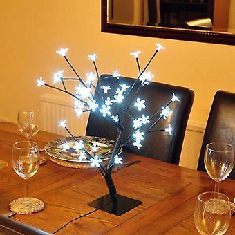 45 cm weiße Blüte LED Bonsai Baum Deko Licht