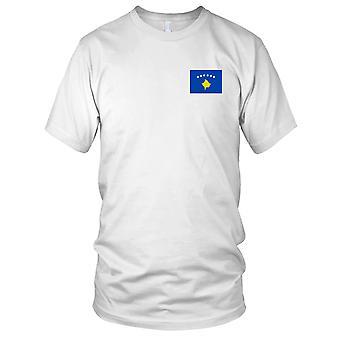 Drapeau National du pays de Kosovo - brodé Logo - T-Shirt 100 % coton T-Shirt Mens