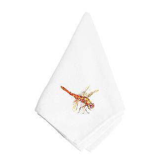 Carolines Treasures  8866NAP Orange Dragonfly Napkin