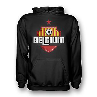 Belgien Land Logo Hoody (schwarz) - Kids