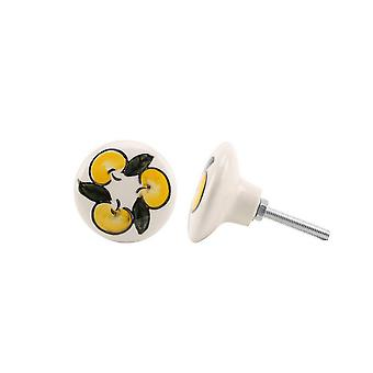 CGB Giftware Lemon Ceramic Drawer Handle