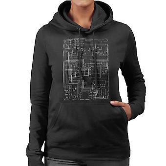 Apple II ordinateur schématique femmes de Hooded Sweatshirt