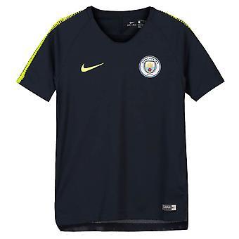 2018-2019 man City squadra maglia da Training Nike (ossidiana) - bambini