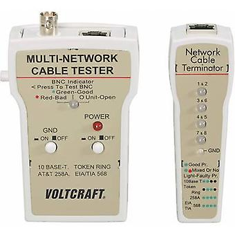 Cable tester VOLTCRAFT CT-1 Suitable for RJ-45, BNC
