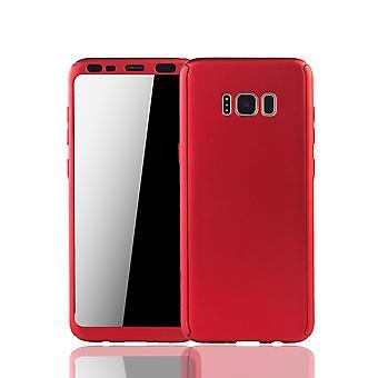 Samsung Galaxy S8 plus eloisa hylsy Schutzcase koko kansi 360 näyttää suojaa folio punainen