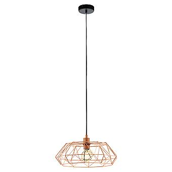 Eglo Carlton Saucer Geometric Copper Island Pendant Light