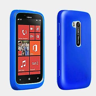 Verizon Wireless High Gloss Silicone Cover for Nokia Lumia 822 - Blue