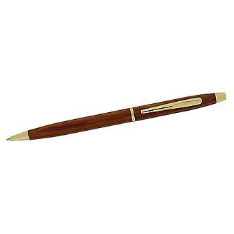 هدية الوقت المنتجات ضئيلة عبر نمط قلم حبر جاف--الظلام براون/الذهب