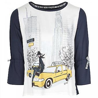 Tuzzi New York Chic Print 3/4 Sleeve T- Shirt