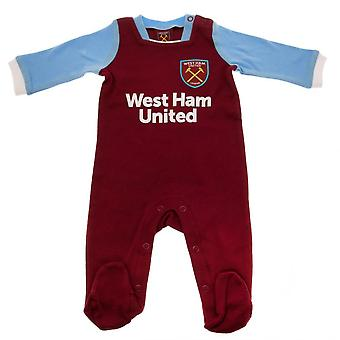 West Ham United FC Baby Sleepsuit