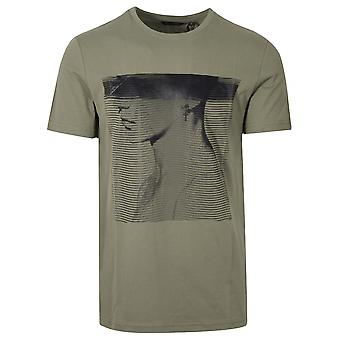 Antony Morato Sport Crew Neck 'Animal Kingdom' Green T-Shirt