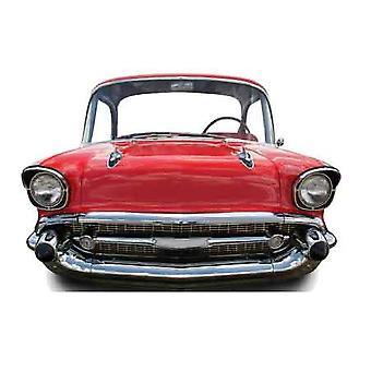 """السيارة الحمراء (صغير) """"الطفل حجم الورق المقوى انقطاع""""/الواقف"""