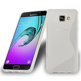 Cadorabo Hülle für Samsung Galaxy A7 2016 Case Cover - Handyhülle aus flexiblem TPU Silikon – Silikonhülle Schutzhülle Ultra Slim Soft Back Cover Case Bumper