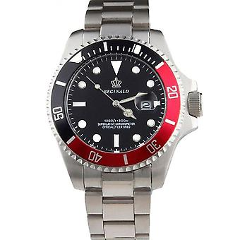 Reginald Mens Homage Watch Silver Black Red Man Smart Watches Designer Gift Present