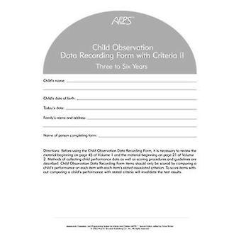 Formulaire d'enregistrement des données Observation SPEA enfant - II - trois à Six ans (2