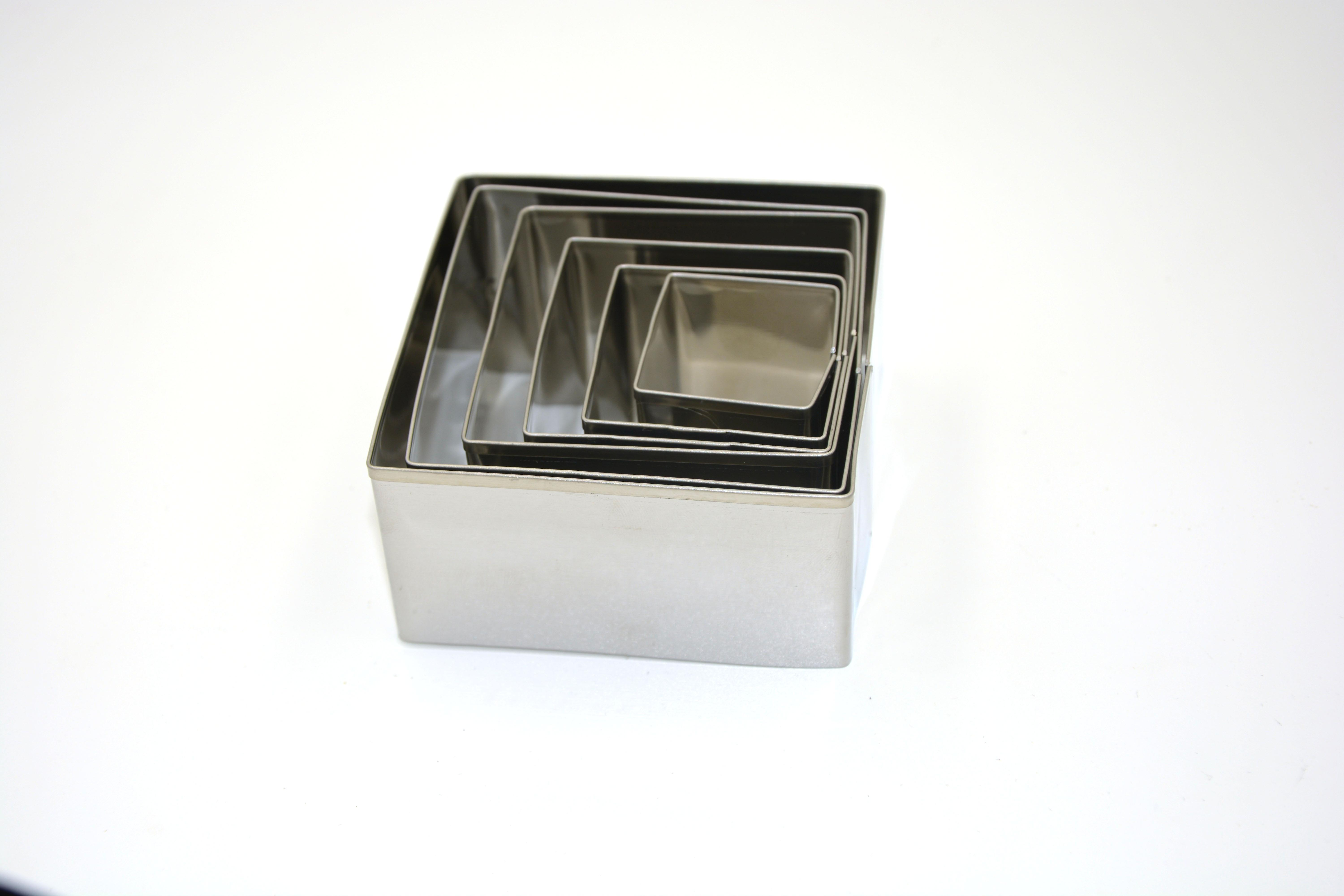Set of 6 Kitchen Square Cookie Cutters