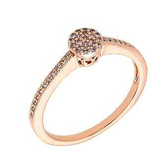 Bertha Sophia Collection Women's 18k RG Plated Stackable Pave Fashion Ring Size 5