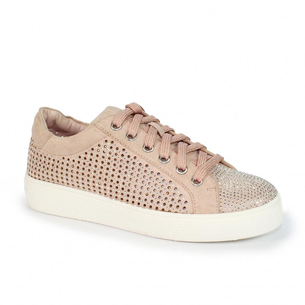 Lunar Norway Rhinestone Lace Up Trainer Ng2uv