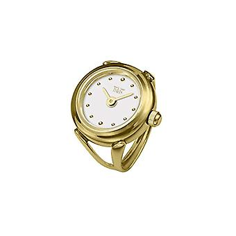 Davis-4180-Ring Ring yellow gold Womens Watch-White Dial with index-adjustable
