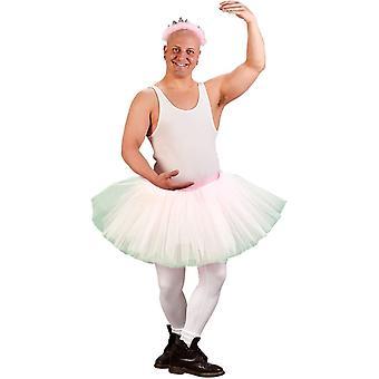 Mr Ballerina Adult kostyme hvit